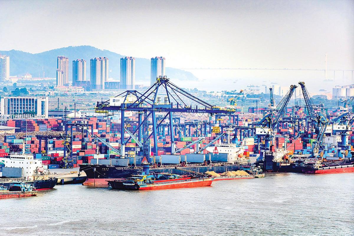 東莞虎門港國際集裝箱碼頭。(大紀元資料室)