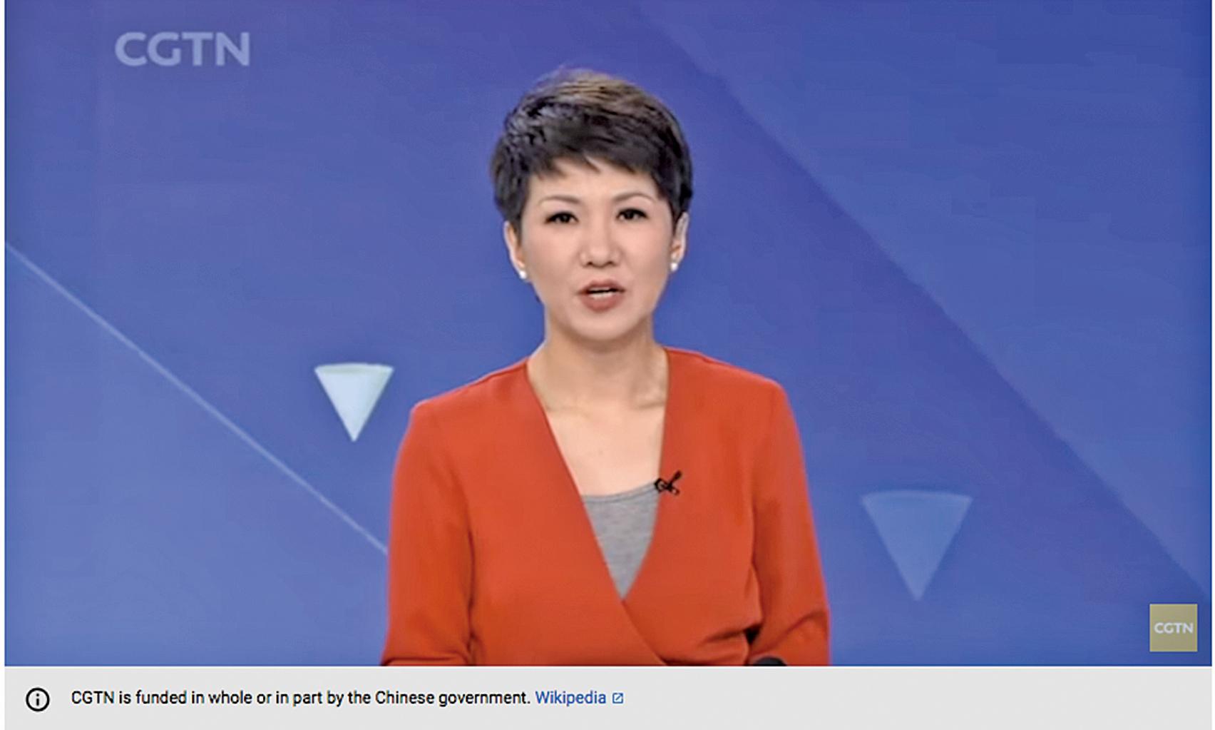 中共央視英文女主播劉欣。