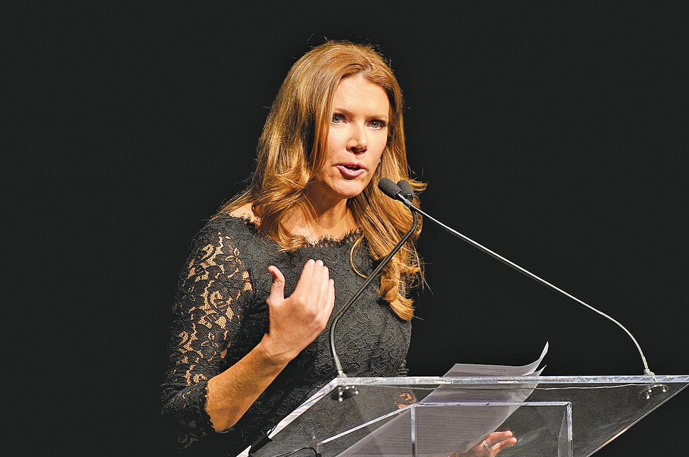 霍士商業網絡電視(Fox Business Network)女主播崔西 列根(Trish Regan)。(AFP)
