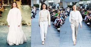 清爽和優雅的白色服裝