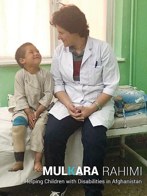 物理治療師穆卡拉拉希米(右)和拉曼(左)因為一則溫馨短片,引發全世界對戰區兒童現況的關注。(MulkaraRahimi.com)