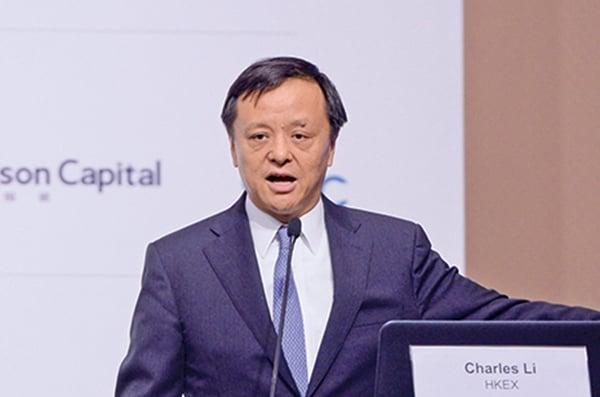 香港交易所行政總裁李小加認為,中美貿易摩擦,中方可能要慢慢改變一些貿易上的「壞習慣」。(宋碧龍/大紀元)