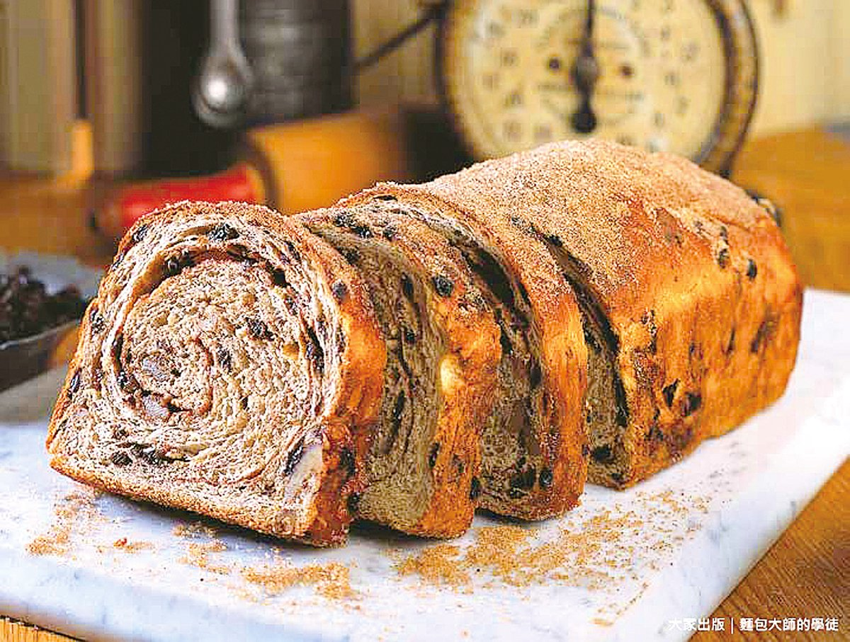 食譜中的「肉桂葡萄乾核桃麵包」滿足了所有對於葡萄乾麵包的期待。