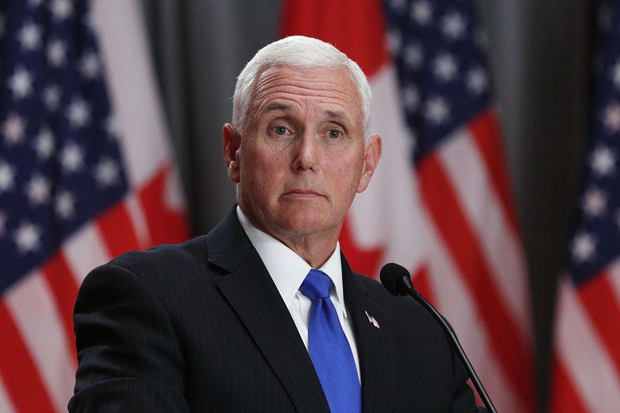 美國副總統邁克・彭斯(Mike Pence,如圖)周五(5月31日)指出,華為是中共的「全資關係企業」,對國安及個人私隱構成根本上的損害。 (Lars Hagberg / AFP)
