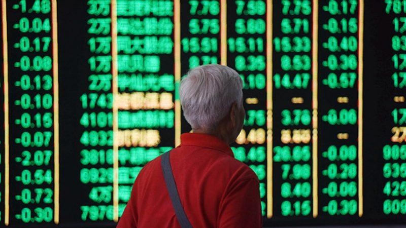 中國股市遭遇「黑5月」,外資狂拋A股高達536億元。 (VCG/Getty Images)