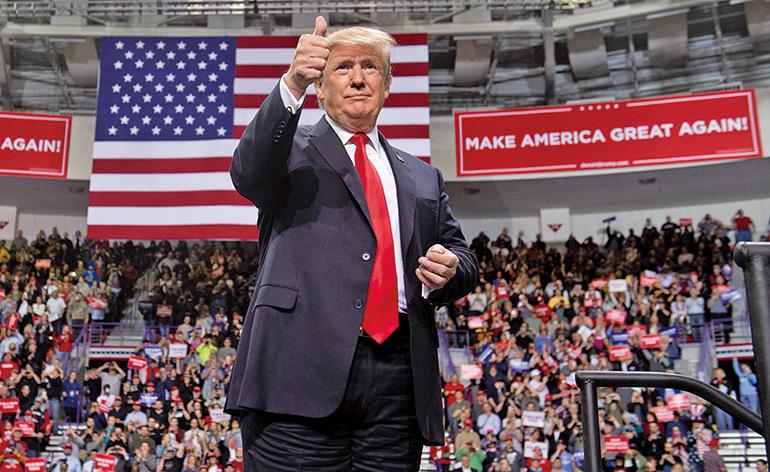 美國總統特朗普將於6月18日宣佈競選連任。(AFP)