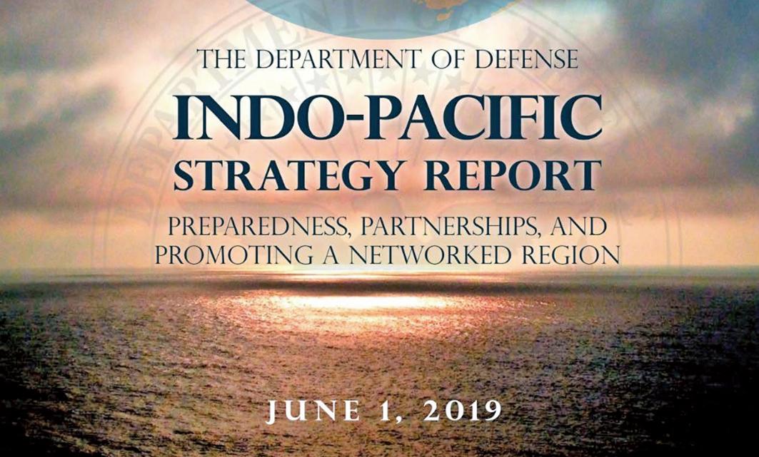 美國國防部發表的《印太戰略報告》指控中共破壞國際體制。(網頁擷圖)