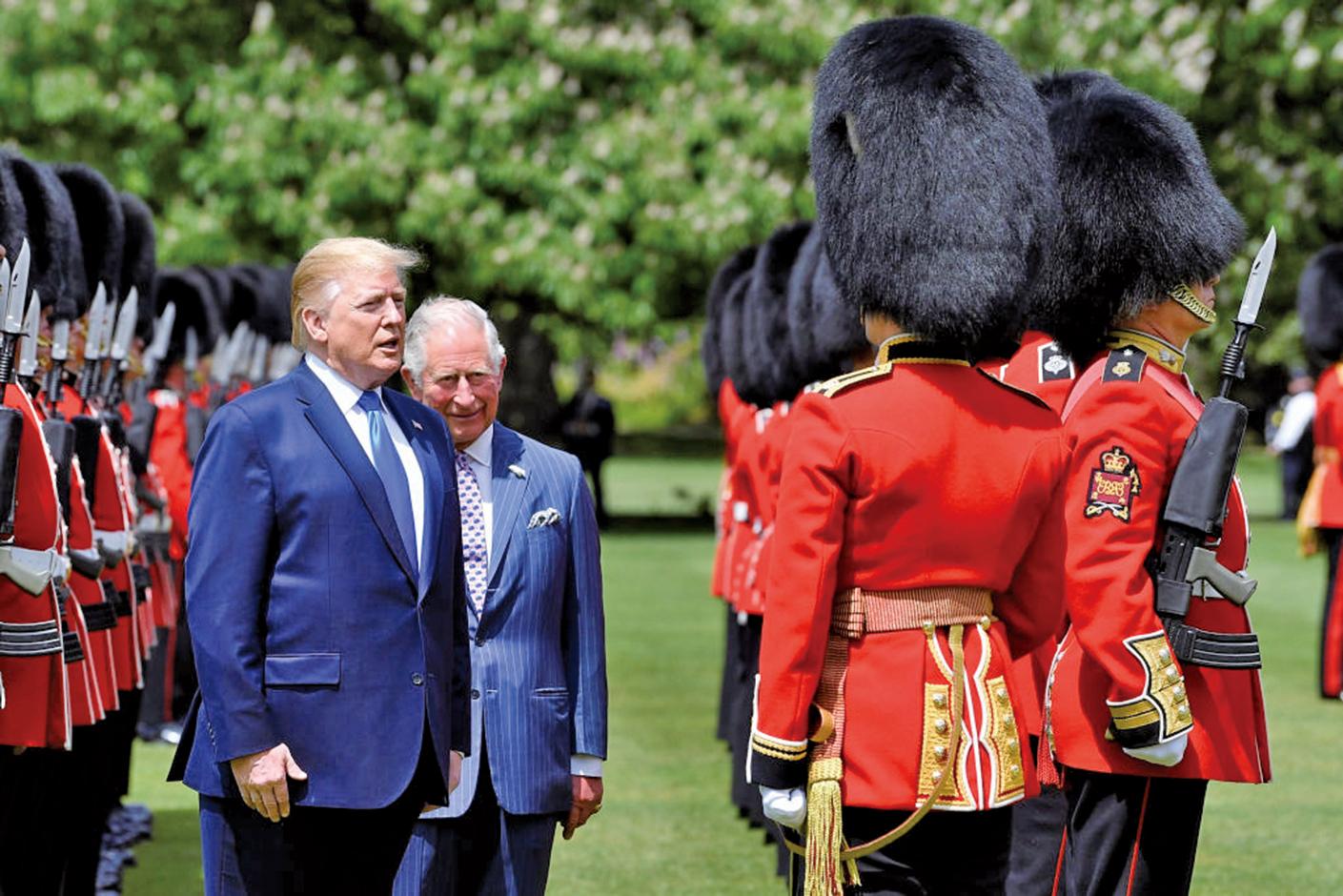 6月3日,美國總統特朗普夫婦訪問英國,受到王室的隆重歡迎。(Getty Images)