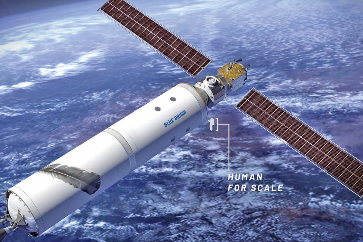藍源公司提議的低空地球軌道人類居所的藝術設想圖。(Blue Origin/NASA)