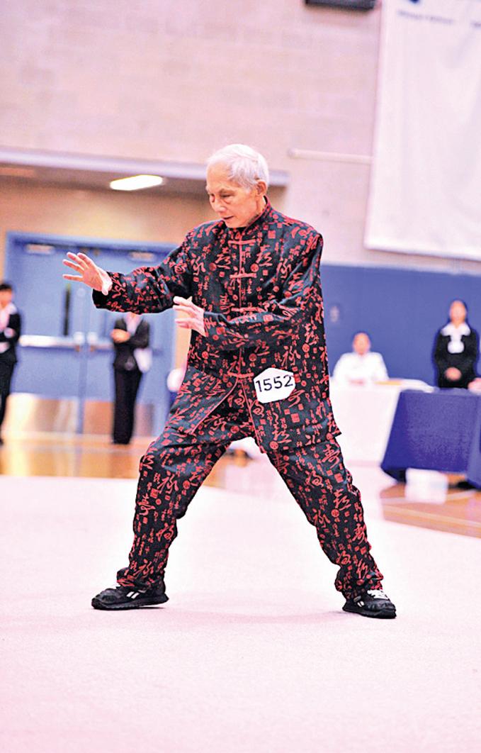 第三屆南方拳術組選手陳榮恩表演南派佛家拳。(戴兵/大紀元)