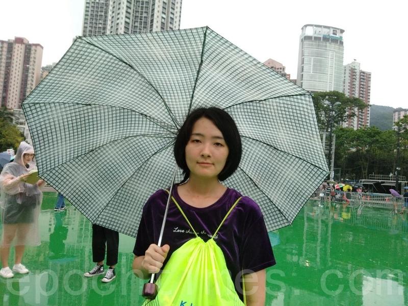 來自上海的劉小姐。(林怡/大紀元)
