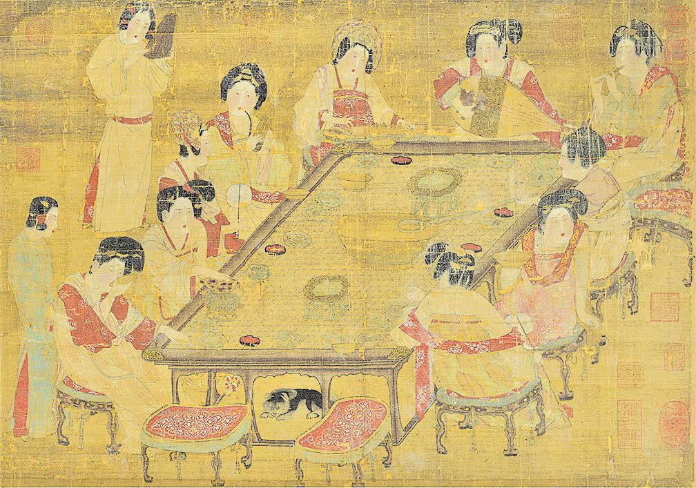 《唐朝宮樂圖》(公有領域)