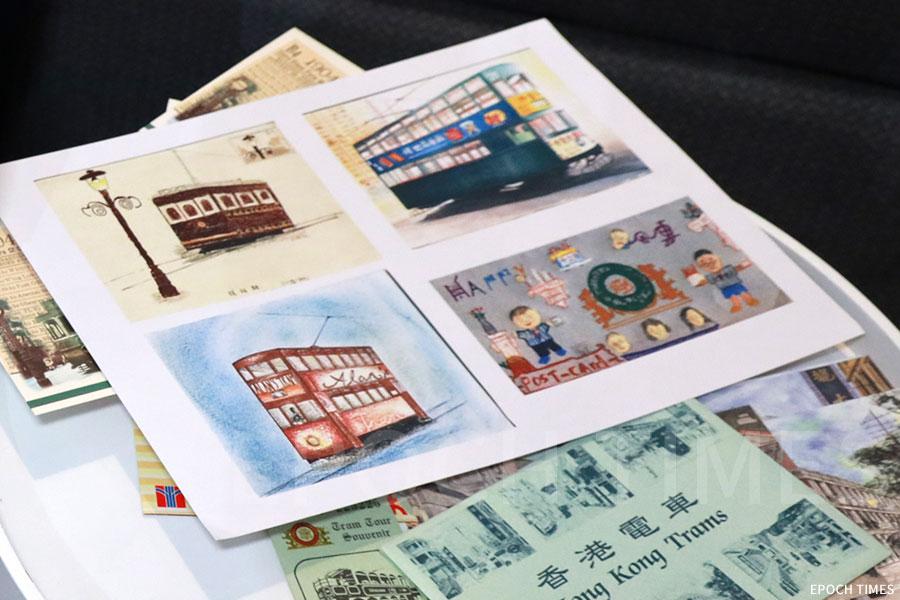 張順光廿八年前收到的父親節禮物——子女的手繪明信片。(陳仲明/大紀元)