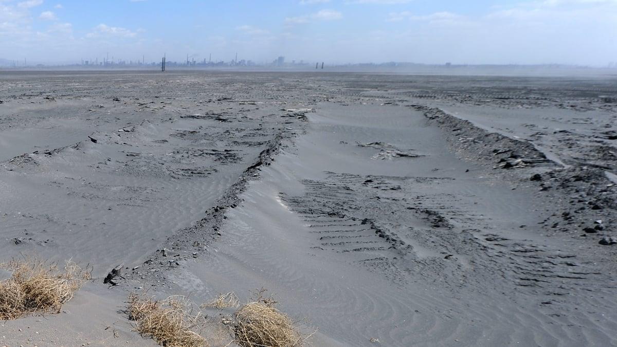 中國稀土資源總量的98%分佈在內蒙、江西、廣東、四川、山東等地區。圖為內蒙古含有稀土元素的土壤。(FREDERIC J. BROWN/AFP/Getty Images)