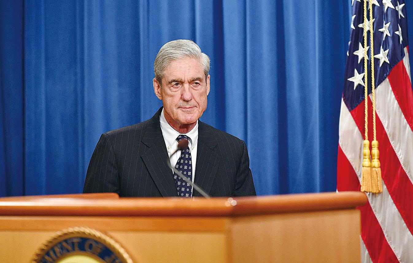 特別檢查官穆勒在5月29日舉行新聞發佈會,宣佈通俄門調查結案。(Mandel Ngan / AFP/Getty Images)