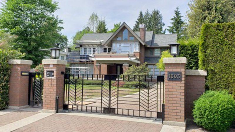 孟晚舟11日搬入位於溫哥華最昂貴的豪宅區,和中領館為鄰。(自由亞洲圖片)