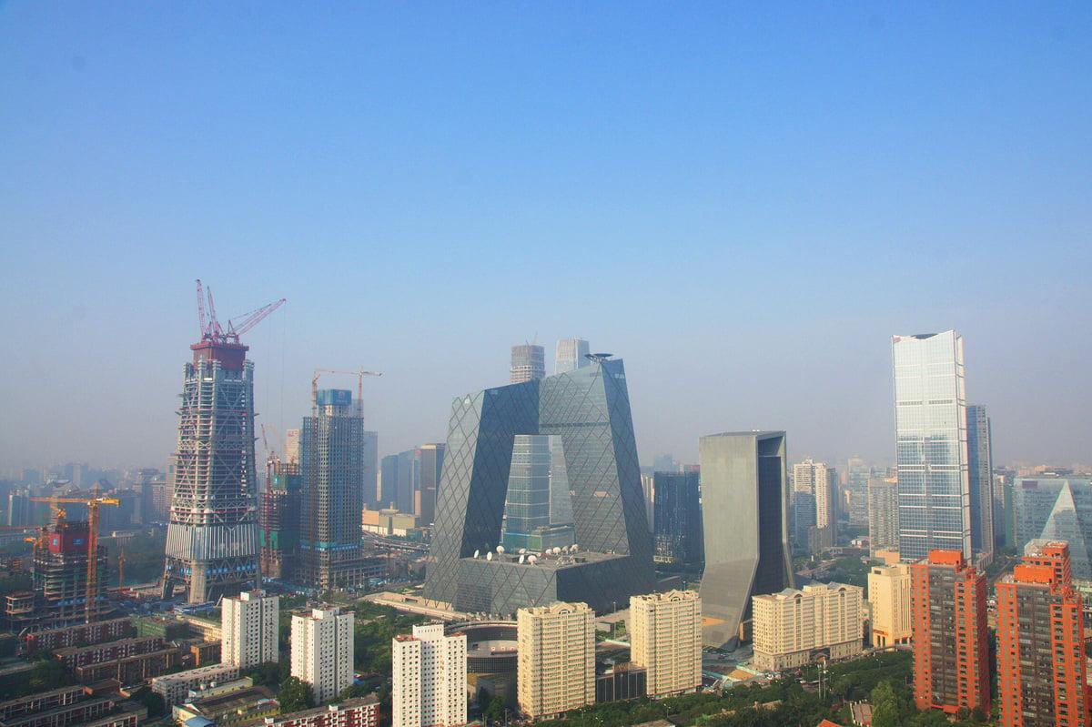 北京土地沉降嚴重,研究稱與地下水枯竭及大量興建摩天大樓有關。(Getty Images)
