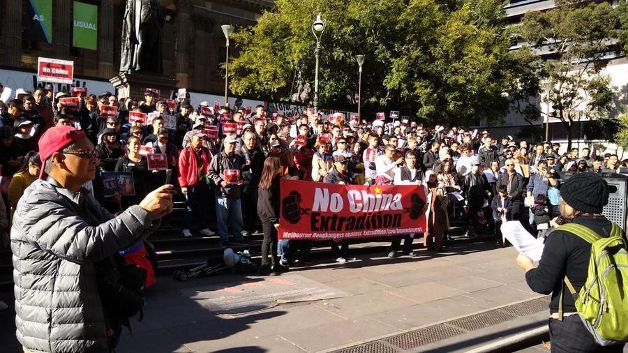 澳洲多城五千港人上街聲援反送中惡法
