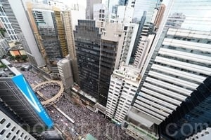 【6.9反送中】創紀錄 103萬港人怒吼塞爆街(有片)