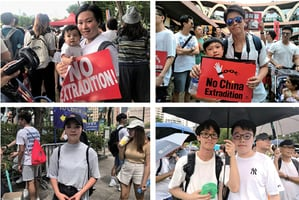 家長學生紛上街反對惡法