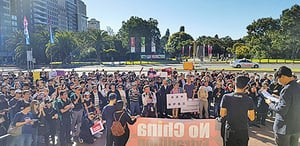 澳洲多城五千港人聲援反惡法