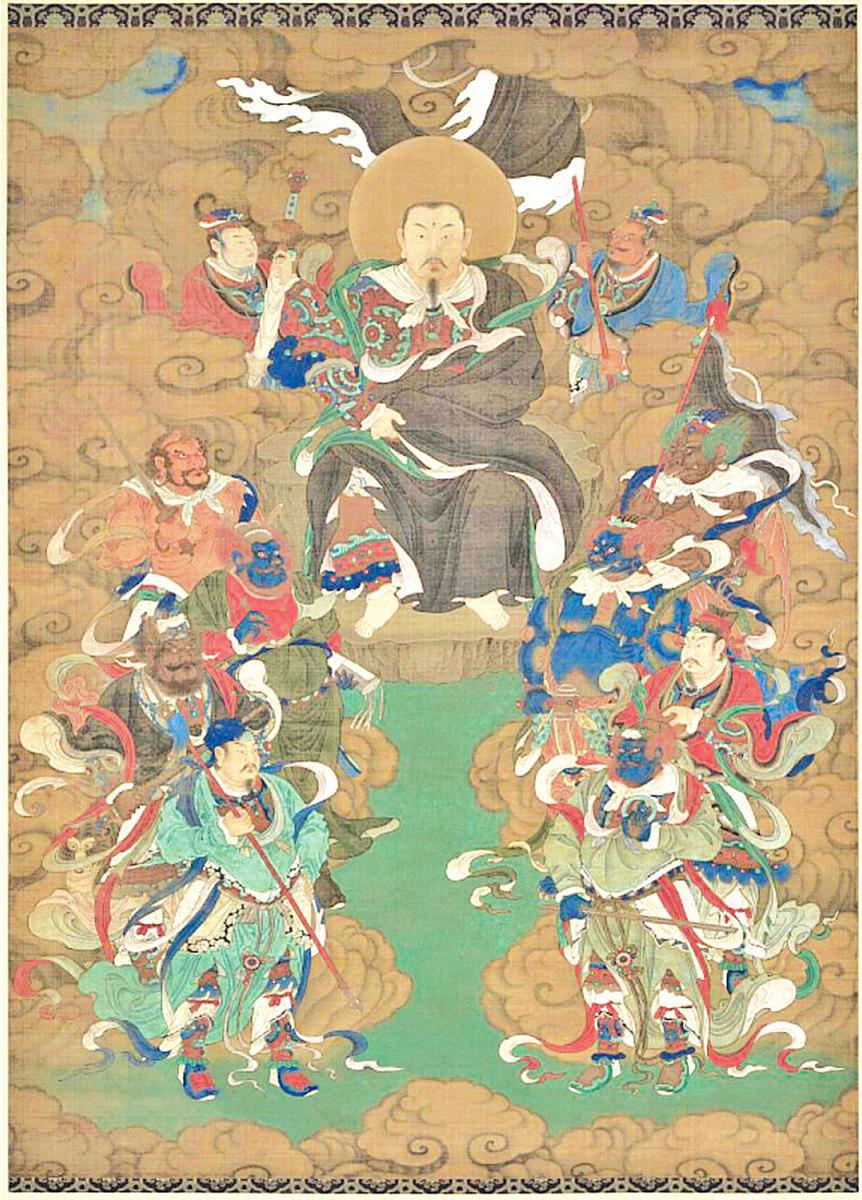 中國數術文化的來源,多來自卜筮等技巧,體系完整嚴密,皆有崇天敬神的本意。圖為玄天上帝。(公有領域)