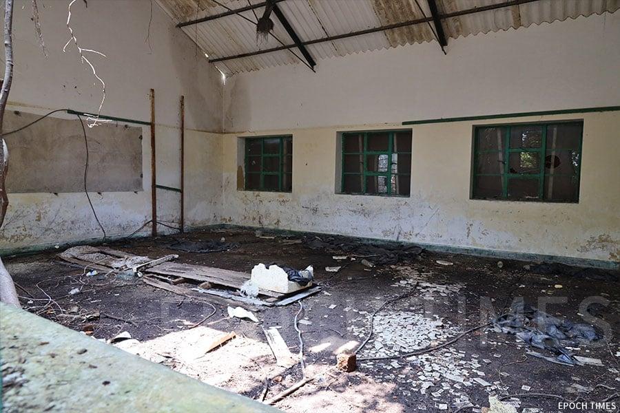 蒲苔學校的校舍,如今已經荒廢。(陳仲明/大紀元)