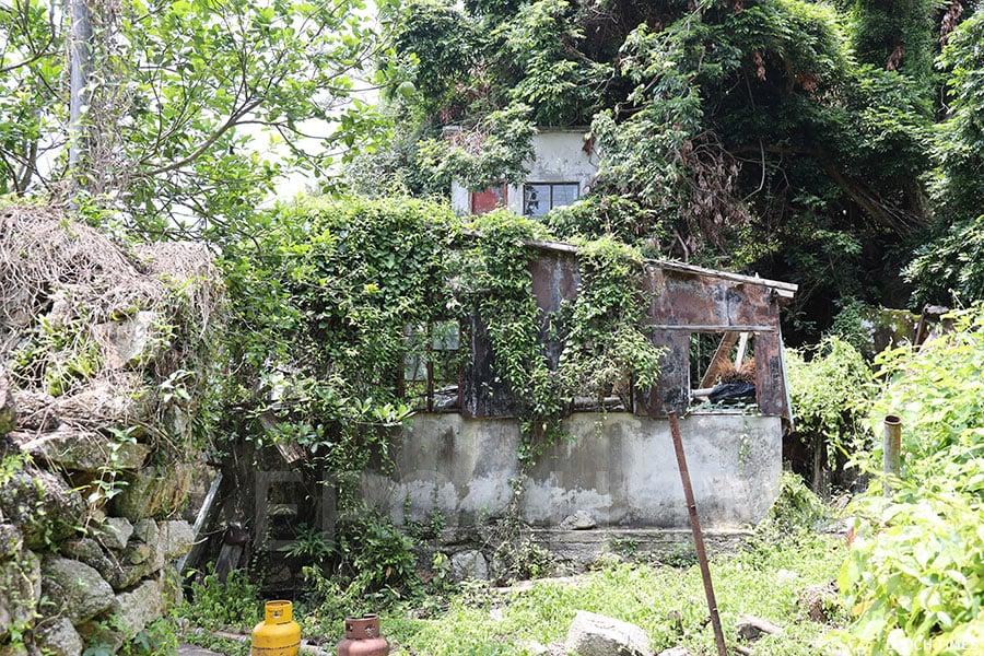 張啟勳在蒲台島的故居,如今已成頹垣敗瓦。(陳仲明/大紀元)