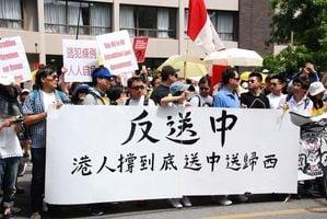 聲援香港反送中 多倫多二千人集會遊行