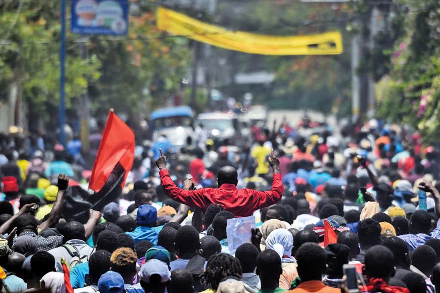海地遊行示威 高喊涉貪總統下台