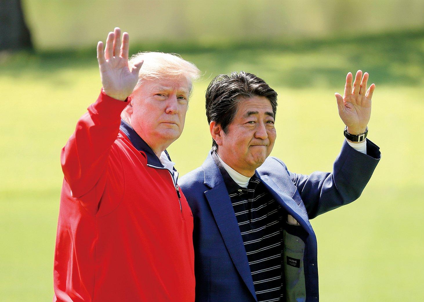 鑑於日本與伊朗長久的友好關係,美國總統特朗普於今年5月26日,與日本首相安倍晉三進行高爾夫球球敘時敲定了安倍訪問伊朗的日程。(Getty Images)