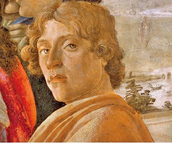 桑德羅波提切利(Sandro Botticelli)自畫像。