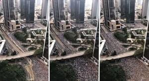 縮時影片震撼全球 百萬港人反送中大遊行(影片)