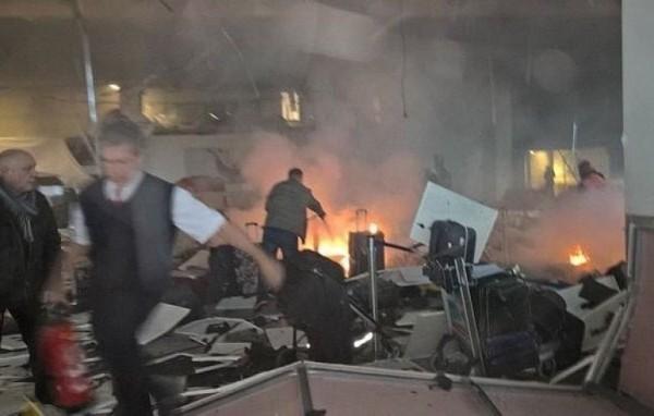28晚,土耳其伊斯坦堡國際機場發生爆炸。(網絡圖片)