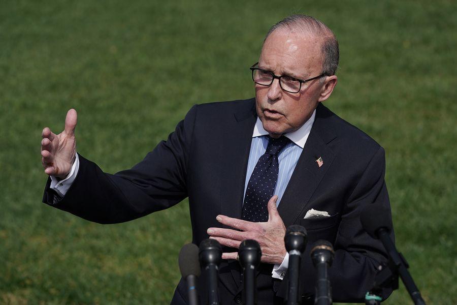 美國家經濟委員會主席拉里·庫德洛說,即使中美已無協議,美國經濟今年仍會繼續保持強勁的增長勢頭。(Chip Somodevilla/Getty Images)