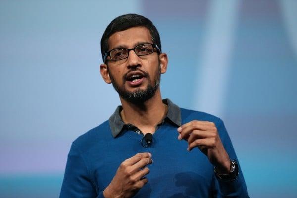 近日一個黑客組織稱,已取得了Google行政總裁皮查伊Quora和Twitter的帳號和密碼。(Justin Sullivan/Getty Images)