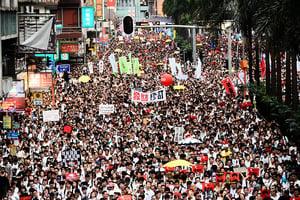 香港百萬人反送中惡法 美英台領袖聲援