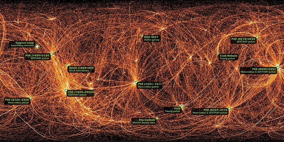NASA 公佈的整個天空的X射線圖。(NASA)