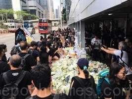 男子反惡法墜下 網民發起悼念活動