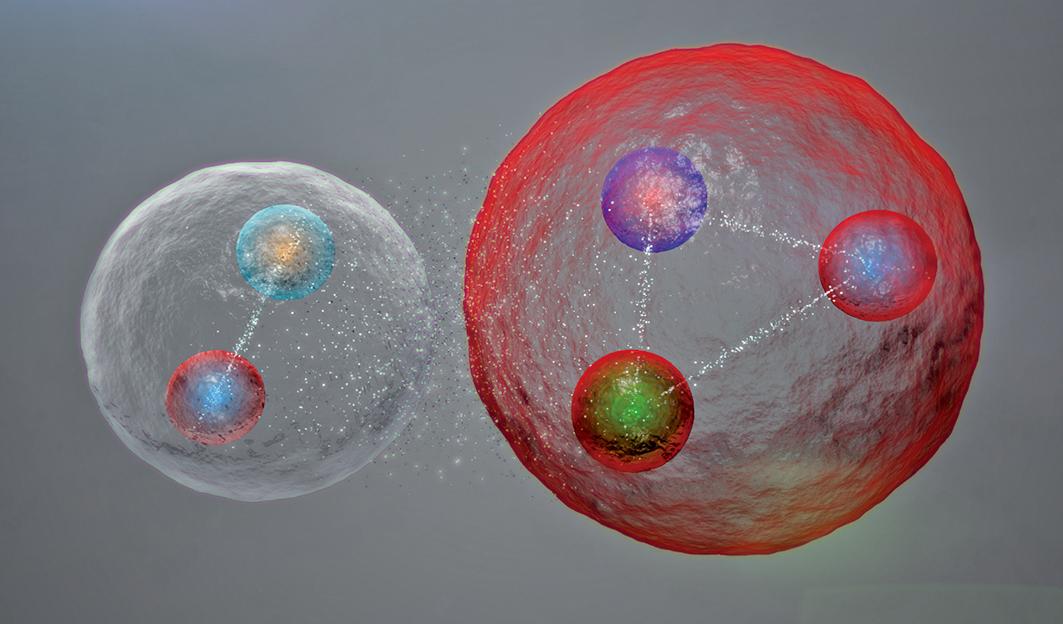 五夸克粒子示意圖。(CERN)