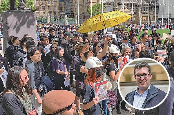「不撤不退」 英美德法多城集會聲援港人