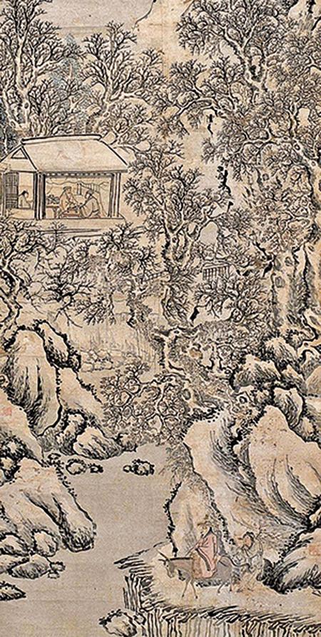 周必大到了岳父王葆家,王葆嘆息說:「今天掃雪,我以為能接到宰相呢。」圖為明‧沈周《騎驢賞雪圖》局部(公有領域)