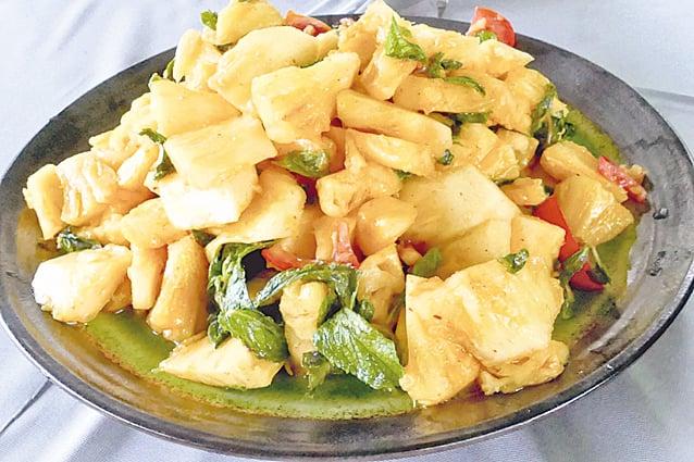 酸甜美味的「薄荷菠蘿」,是一道美味的前菜。