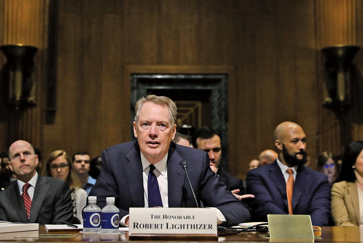 美國貿易代表羅伯特‧萊特希澤(Robert Lighthizer)。(Getty Images)