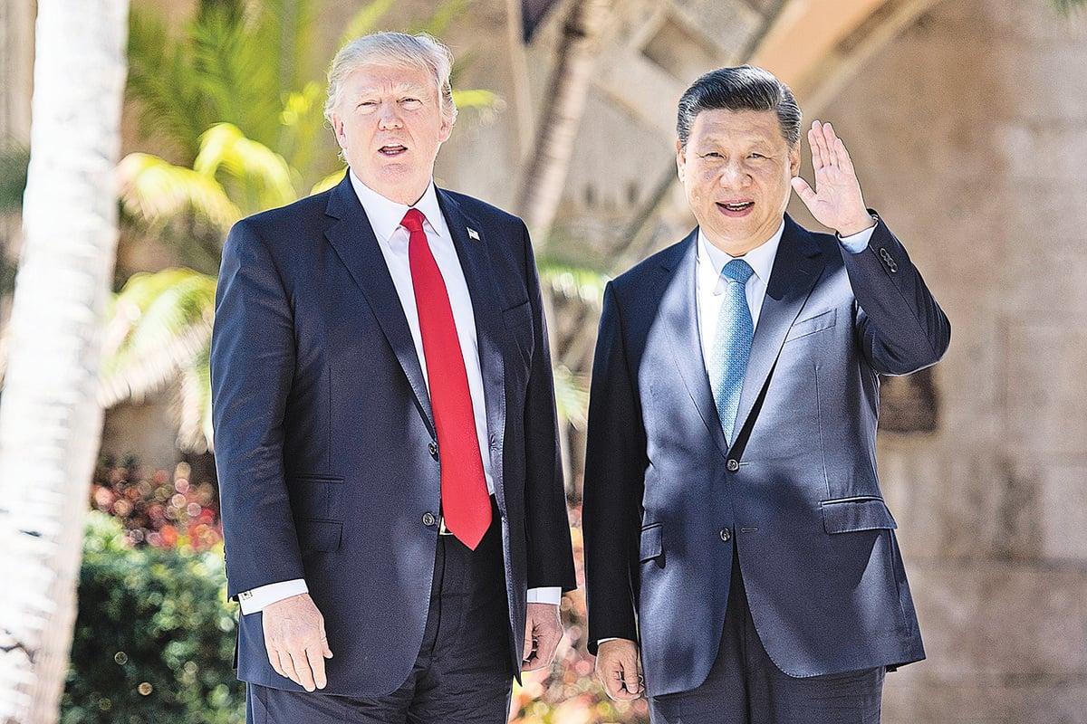 美國總統特朗普(左)及中國國家主席習近平將於月底會晤,目前雙方立場仍是南轅北轍。習特會對未來貿易戰走向,引發各界關注。(AFP)
