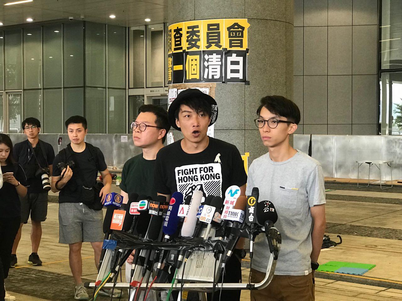 日本大阪二十國集團峰會前夕,民陣集會表訴求,促國際社會施壓港府。(蔡雯文/大紀元)