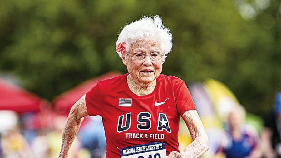 103歲婆婆 再奪百米冠軍