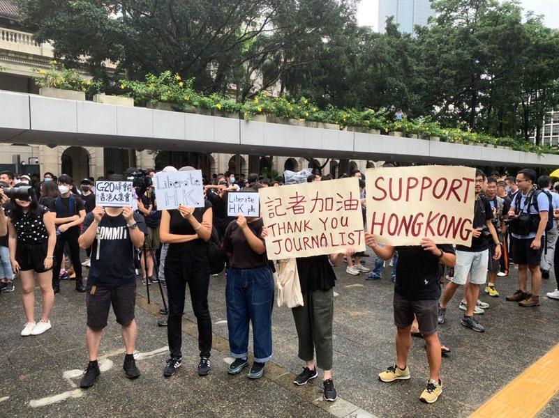 G20峰會前夕 港人自發馬拉松式到各國領事館促施壓中共(影片)