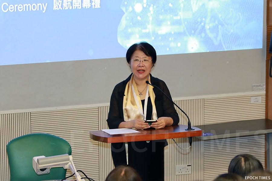 建造業議會建築信息模擬專責委員會主席馮宜萱女士擔任本次活動的評審主席。(陳仲明/大紀元)