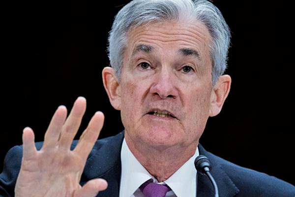 美聯儲主席鮑威爾(Powell)2月26日在參議院做半年度貨幣政策報告。(AFP)